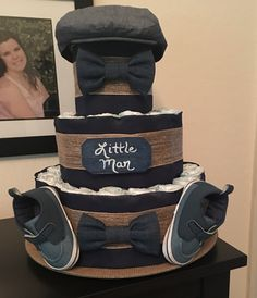 Little Man Diaper Cake I made for a coworker