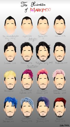 Markiplier / Mark Edward Fischbach   I want to dye my hair the colour he had in December 2015 (electric blue)