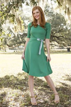 Tea time dress green from the Spring Collection by Shabby Apple