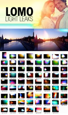 Lomo Light Leaks to use in Photoshop. Free download.