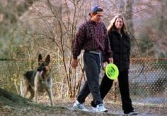 John Kennedy Jr. with girlfriend Carolyn Bessette and his dog Sam