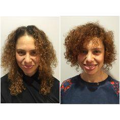 Cheveux court bouclé naturel et couleur cuivré  Coupe cheveux bouclé