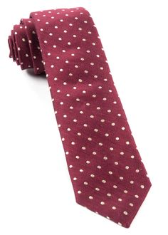 DOTTED DOTS  - BURGUNDY