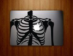 Skeleton Heart - Full-sized MacBook, MacBook Air, MacBook Pro Vinyl Decal on Etsy, $19.95