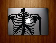 Skeleton Heart - Full-sized MacBook, MacBook Air, MacBook Pro Vinyl Decal on Etsy, $19.95