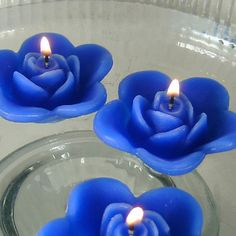 12 Blue floating rose wedding candles for table centerpiece and reception decor. - The Wedding Pins Royal Blue Centerpieces, Wedding Reception Centerpieces, Wedding Arrangements, Reception Decorations, Wedding Table, Royal Blue Wedding Decorations, Wedding Ideas, Royal Blue Weddings, Sapphire Blue Weddings