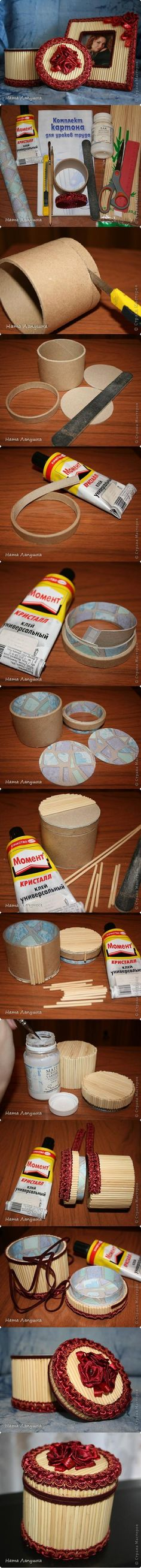 DIY Beautiful Round Box DIY Beautiful Round Box Problem of fitting the lid solved. Fun Crafts, Diy And Crafts, Crafts For Kids, Cardboard Crafts, Paper Crafts, Shoebox Crafts, Cardboard Rolls, Diy Projects To Try, Craft Projects