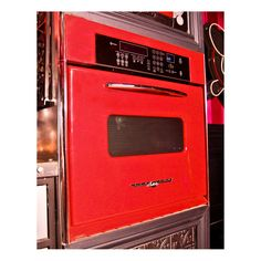 Elmira Stove Works Northstar Retro Appliances such as the Northstar Wall Oven, Northstar Microwave, Northstar 1948 model double-drawer fridge panel kit that fits KitchenAid refrigerator drawers Kitchen Cabinet Door Styles, Diy Kitchen Cabinets, Wall Cabinets, Retro Appliances, Kitchen Appliances, Retro Kitchens, Sycamore House, Butcher Block Kitchen, New Kitchen Designs