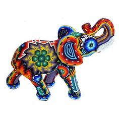 Vochol forrado con chaquiras - Arte Huichol Day Of The Dead Artwork, Huichol Art, Elephant Parade, Nativity Crafts, Color Crafts, Native Style, Bead Embroidery Jewelry, Beaded Animals, Wooden Art