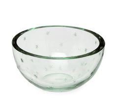 Göran Hongell - Glass bowl with star pattern (late diameter cm. Glass Design, Design Art, Decorative Accents, Star Patterns, Finland, Modern Contemporary, Accent Decor, 1940s, Glass Art