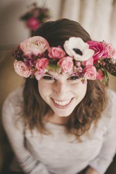 DiY crown of flowers - The bridal barefoot