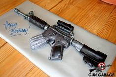 Happy 3rd Birthday to us! If anyone feels the urge to bake us this cake, we will happily take it off your hands.  Thank you to our amazing, loyal customers who have helped our shooting range stay in business over the last 3 years. We couldn't have done it without you.  #Birthday #GunGarage #LasVegas