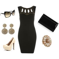A chic look for little money, well except for theJimmy Choo clutch, created by paola-shiroma on Polyvore