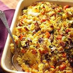 Sweet Potato and Corn Bread Stuffing | Happy Thanksgiving! | Pinterest ...