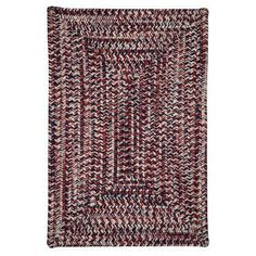 Colonial Mills Corsica Indoor / Outdoor Area Rug Patriotic - CC29R144X144R, CMI2316-35