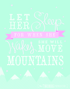 The Turquoise Penguin: Hand Lettering // Let Her Sleep For When She Wakes