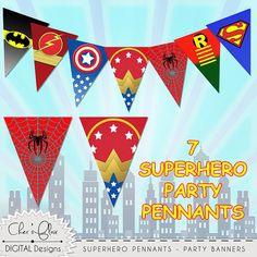 SUPERHÉROE superhéroe Digital letras letras del alfabeto Superhero Alphabet, Superhero Spiderman, Superhero Party, Alphabet Letters, Superman, Pennant Banners, Party Banners, Birthday Banners, Mickey Birthday