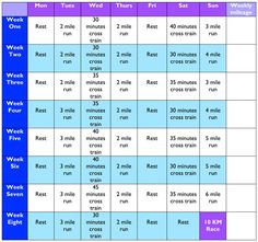Beginners Running Schedule- I will get there someday.lol (hey, it& not my fault the last time I attempted to train for a I got pregnant! oh, wait. Running Workouts, Running Tips, Running Plans, Fitness Diet, Fitness Motivation, Health Fitness, Running Schedule For Beginners, I Work Out, Get In Shape