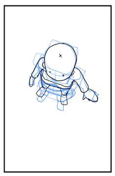 [イラスト・漫画] 俯瞰視点・上から見下ろすキャラクターの描き方