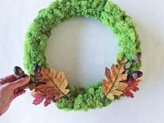 Fresh Fall Decorating: Ribbon Rose Wreath | HGTV >> http://www.hgtv.com/design/make-and-celebrate/handmade/craft-a-cheery-ribbon-rose-wreath-for-fall?soc=pinterest