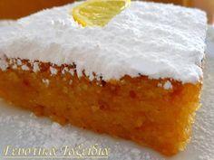 Ζουμερή, λαχταριστή, απολαυστική Λεμονόπιτα μέ Πρωταγωνιστή τό λεμόνι, νά απογειώνει τήν απόλαυση ... Ό,τι πρέπει γιά νά τή σερβίρετε μέ τό απογευματινό καφεδάκι στή βεράντα ή τήν αυλή. ΓIA TH ZYMH: 1 φλυτζάνι αλεύρι 2 φλυτζάνια σιμιγδάλι .. (1
