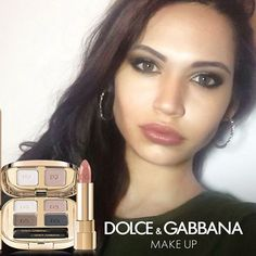Get the perfect #DGBeauty smokey eyes look just like @deborafantini_ using The Eyeshadow Quad, The Khol Pencil and a natural pink Classic Cream Lipstick. #dgwomenlovemakeup✌ Per un #DGBeauty smokey eye perfetto come @deborafantini_ usa The Eyeshadow Quad, The Khol Pencil e un Classic Cream Lipstick rosa naturale. #dgwomenlovemakeup❤❤❤ #ordinarypeople