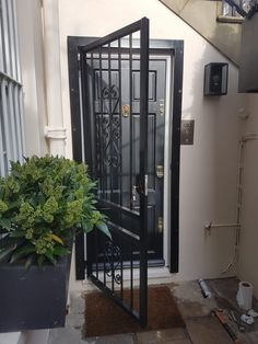 Security Gates, Door Gate, Security Solutions, Back Doors, Doorway, House Design, Home Decor, Safety Gates, Entrance