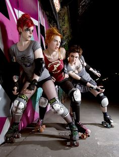 Roller derby style, from Flat Track Fashion by Ellen Parnavelas. Photo by Danny Bourne.