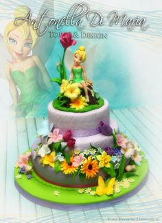 A big cake for the first birthday party of my daughter's school teacher's second born baby girl. I put a lot of love and passion doing it and got back the joy of Tinkerbell's sweet expression.
