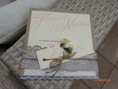 Einladungskarte Vintage Hochzeit Mit Spitze Und Kraftpapier By Flairville  On Etsy