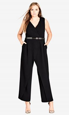 5e6078133da Shop Women s Plus Size Black Flicker Jumpsuit