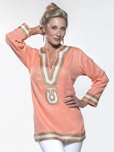Apricot Linen Tunic