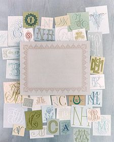 Monogram Details - Martha Stewart Weddings Planning & Tools
