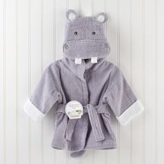 Baby Aspen Hug-alot-amus Hooded Hippo Robe - Overstock™ Shopping - Big Discounts on Baby Aspen Baby Bath Robes Cute Hippo, Baby Hippo, Baby Outfits, Baby Spa, Baby Newborn, Baby Boy Dress, Baby Gown, Diy Vetement, Baby Cartoon