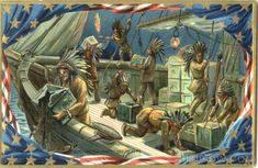 On December 1773 There was a raid on three Brittish ships in the boston harbor. They dumped hundreds of tea into the harbor. The citezens of Boston disguised as indians. American Revolutionary War, American Civil War, American History, Early American, Boston Tea, Confederate States Of America, Colonial America, France, Historical Society