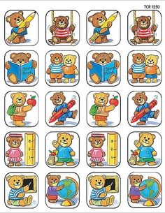 Teacher Created Resources School Bears Stickers, Multi Color 120 Self-Adhesive stickers per pack. Great for incentives and decorations. Kindergarten Crafts, Kindergarten Classroom, School Classroom, Bon Point, Puppet Crafts, Teacher Created Resources, Play To Learn, Album, Kids Cards