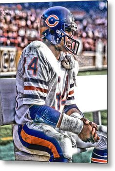 Walter Payton Metal Print featuring the mixed media Walter Payton Chicago Bears…