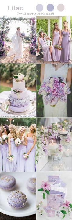 lilac purple spring summer wedding color ideas #weddings #weddingideas #weddingcolors #wedding #purplewedding