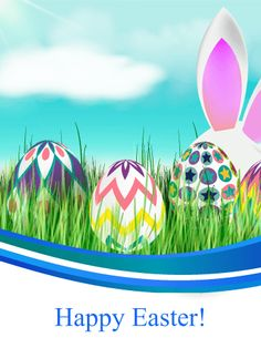 Send Free Easter Bunny & Easter Eggs Card to Loved Ones on Birthday & Greeting Cards by Davia. It's free, and you also can use your own customized birthday calendar and birthday reminders. Happy Easter Wishes, Happy Easter Greetings, Birthday Greeting Cards, Birthday Greetings, Card Birthday, Easter Bunny, Easter Eggs, Easter Card, Egg Card