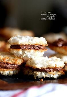 Coconut Macaroon Cookie Sandwiches
