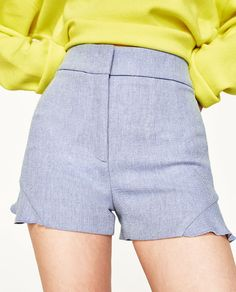 Image 2 of TWILL BERMUDA SHORTS WITH FRILLS from Zara