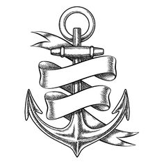 Vector hand drawn anchor sketch by Microvector on @creativemarket