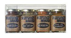 Authentic Spice Passport Gift Set by Crimson and Clove. Ras El Hanout (1.7 oz), Harissa (1.9 oz.), Berbere (1.9 oz.) and Za'atar (1.6 oz.), ,