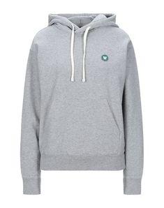 Wood Wood Hooded Sweatshirt In Light Grey Wood Wood, World Of Fashion, Hooded Sweatshirts, Hoods, Grey, Long Sleeve, Sleeves, Clothes, Shopping