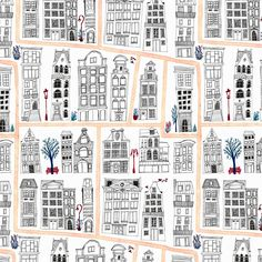 Sophie Brown Illustration: Townhouse Pattern