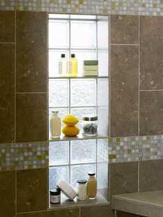 Shower shelf nook