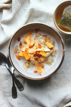 happy hearted kitchen: Quinoa, Persimmon & Almond Porridge