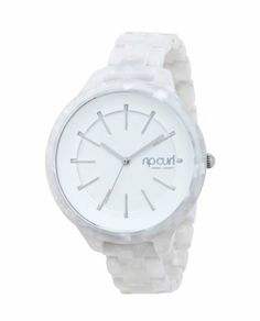 Rip Curl Women's A2588G - WHI Horizon White Acetate Fashion Watch Rip Curl. $144.95. Light weight acetate. Water-resistant to 100 M (330 feet). Narrow strap construction. New women's fashion watch. Depth tested to 100 meters