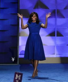 Michelle Obama Dress Christian Siriano Leslie Jones | Michelle Obama wore Christian Siriano for the second time, ever, at last night's DNC kickoff. Here's why her choice of a dress matters. #refinery29 http://www.refinery29.com/2016/07/117959/michelle-obama-dnc-dress-christian-siriano
