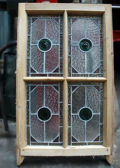stained glass sash windows | Victorian stained glass panels.
